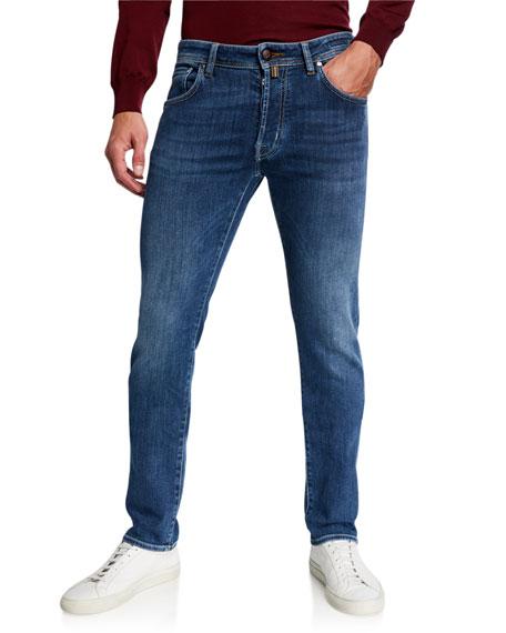 Jacob Cohen Men's Medium-wash Slim Stretch-denim Jeans In Blue