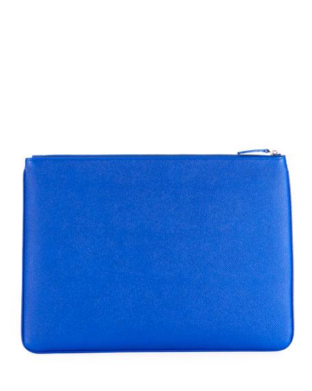 Balenciaga Men's Ville Leather Pouch Bag