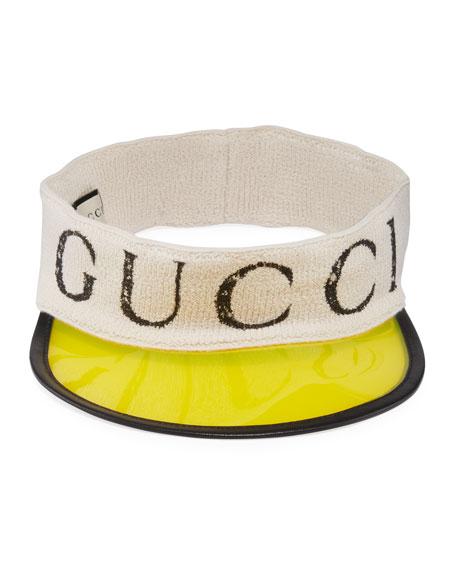 Gucci Men's Roger Translucent-Brim Visor