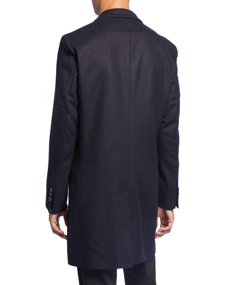 BOSS Men's Slim-Fit Wool Topcoat