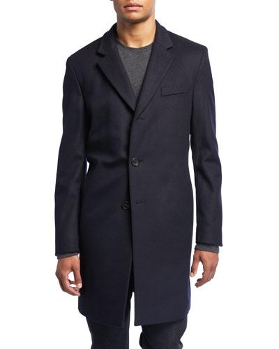 Men's Slim-Fit Wool Topcoat