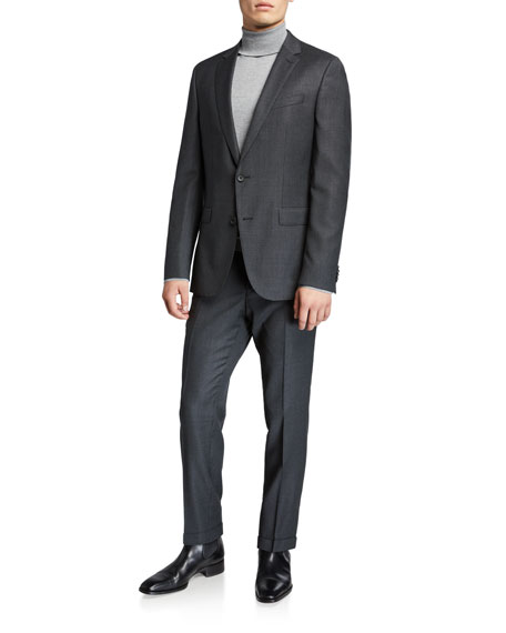 BOSS Men's Slim-Fit Wool Houndstooth Two-Piece Suit