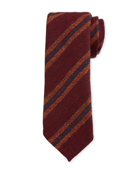 Petronius 1926 Men's Diagonal Stripe Wool Tie