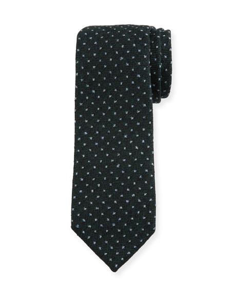 Petronius 1926 Men's Small-Dot Wool Tie