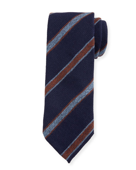 Petronius 1926 Men's Diagonal Stripe Cashmere Tie