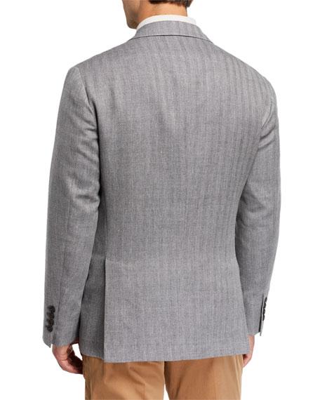 Brunello Cucinelli Men's Herringbone Two-Button Jacket