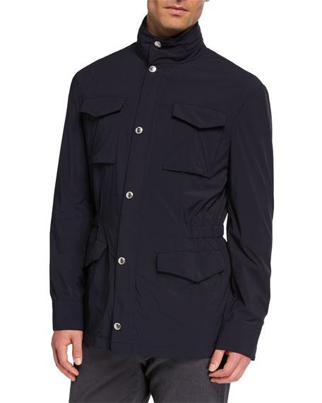 Brunello Cucinelli Men's Lightweight Travel Safari Jacket
