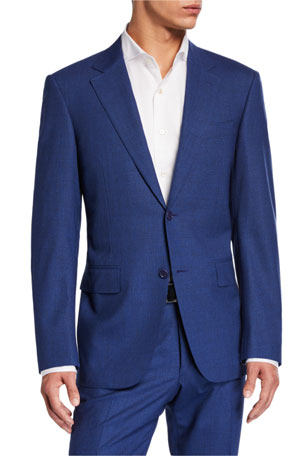 Canali Men's Solid Stretch Two-Piece Suit