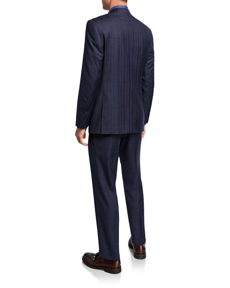 Canali Men's Windowpane Two-Piece Wool Suit