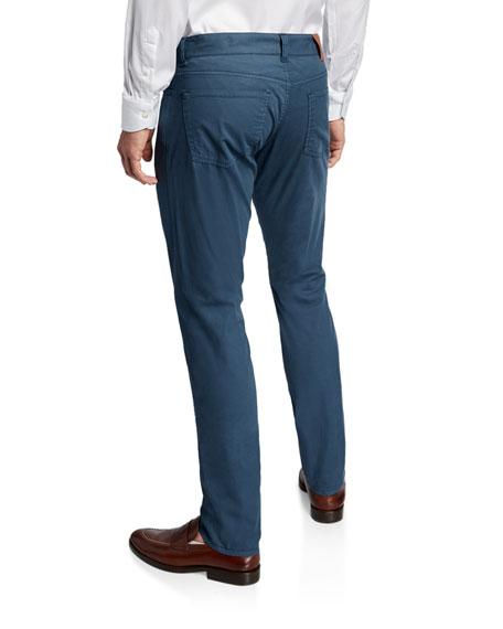 Canali Men's Straight-Leg Cotton/Silk Stretch Pants