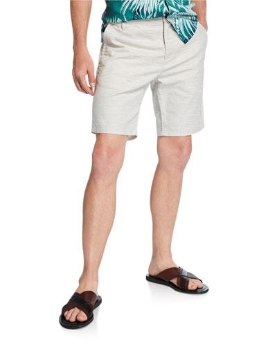 Men's Thompson Textured Linen-Cotton Shorts