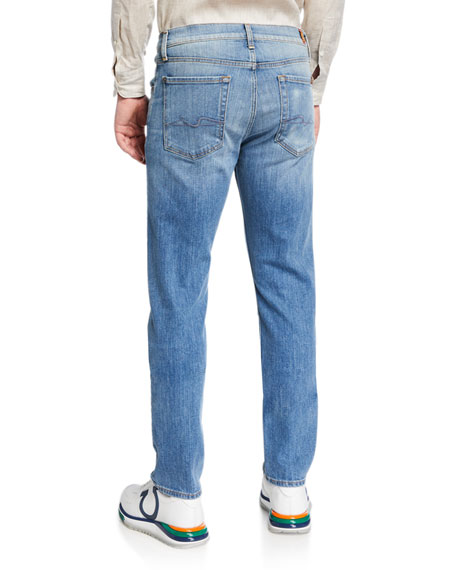Image 2 of 3: 7 for all mankind Men's Slimmy Straight-Leg Jeans