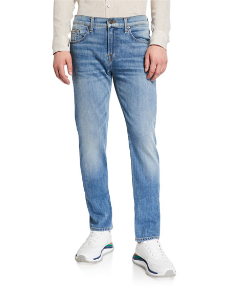 Image 1 of 3: 7 for all mankind Men's Slimmy Straight-Leg Jeans