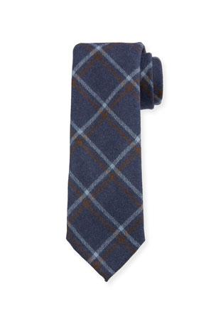 Petronius 1926 Men's Large Plaid Wool Tie