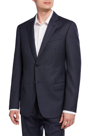 Emporio Armani Men's G-Line Tonal Windowpane Wool Two-Piece Suit