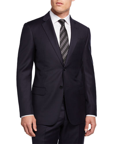 Super 130s Check Wool Two-Piece Suit