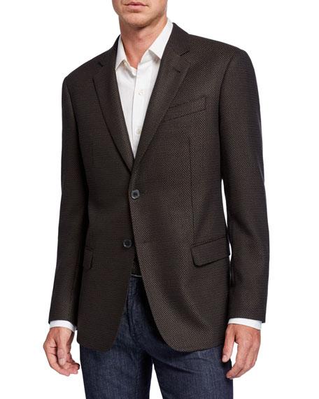 Emporio Armani Men's G-Line Micro-Dot Two-Button Jacket