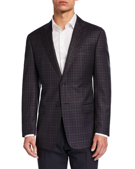 Emporio Armani Men's G-Line District Check Two-Button Jacket