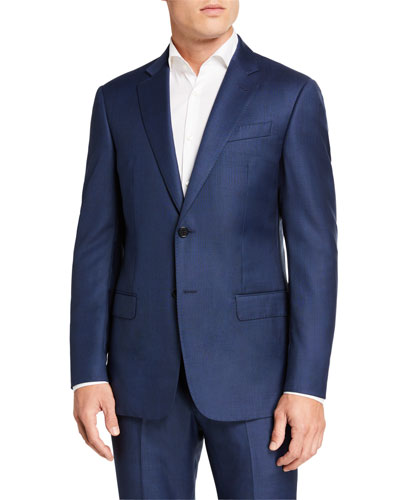 Men's G-Line Tonal Plaid Wool Two-Piece Suit