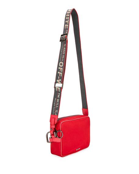 Off-White Men's Web-Strap Rectangle Crossbody Bag