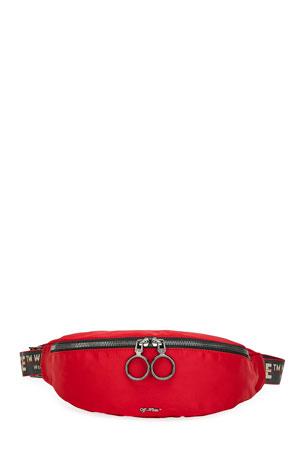 Off-White Men's Web-Strap Belt Bag/Fanny Pack