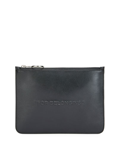 Men's Leather Quote Pouch