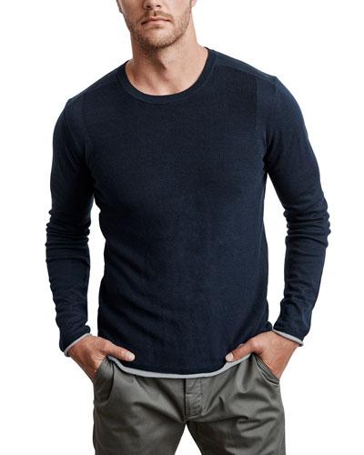 Men's Yuma Silk-Blend Crewneck Sweater