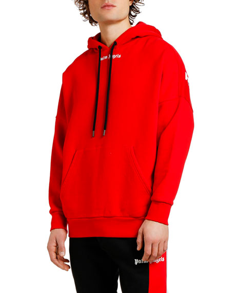 Palm Angels Men's Logo Over Pullover Hoodie