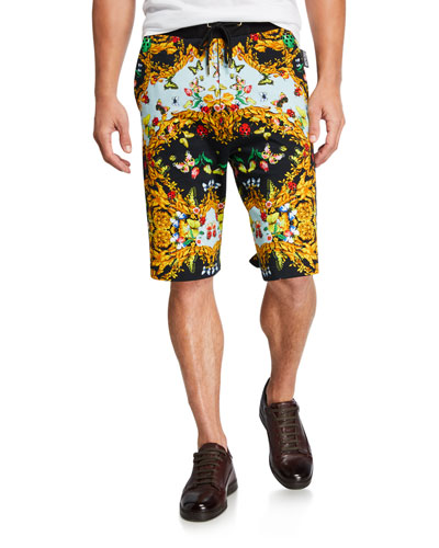 Men's Ladybug-Print Sweat Shorts