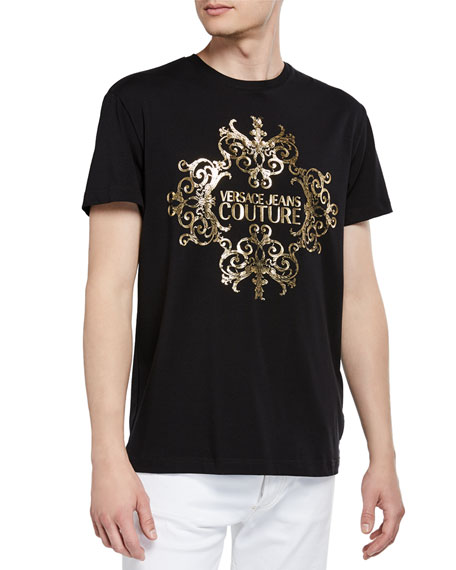 Versace Jeans Couture Men's Foil Baroque Logo T-Shirt