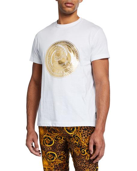Versace Jeans Couture Men's Golden Logo Medallion T-Shirt