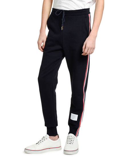 Thom Browne Men's Side-Stripe Classic Sweatpants