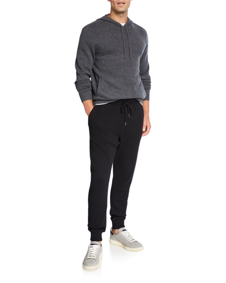 Neiman Marcus Men's Recycled Cashmere/Cotton Jogger Pants