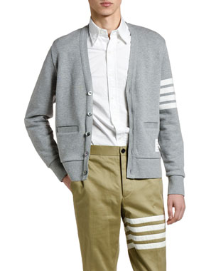 587ffcf8f3b74 Thom Browne Men s Four-Stripe Cotton Cardigan. Favorite