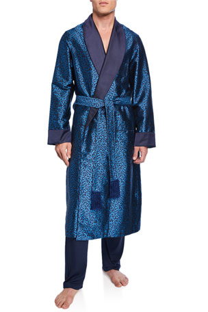 Derek Rose Men's Verona 46 Silk Robe