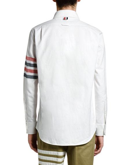 Thom Browne Men's 4-Stripe Classic Sport Shirt