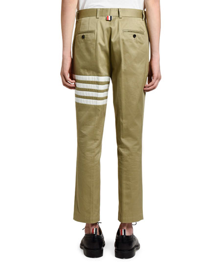 Thom Browne Men's Unconstructed Ankle Chino Trousers