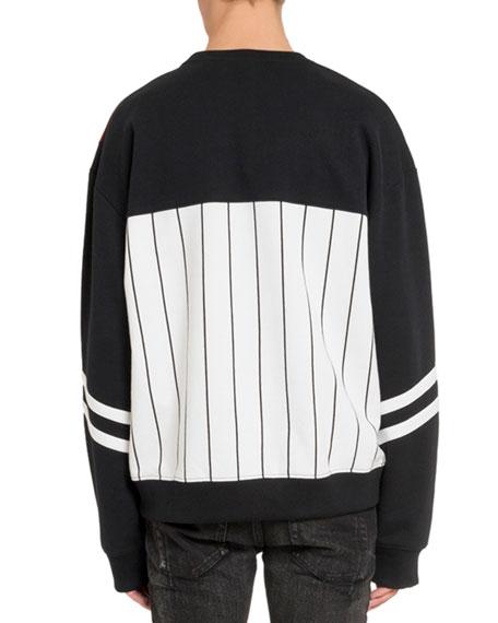 Balmain Men's Graphic Crewneck Sweatshirt