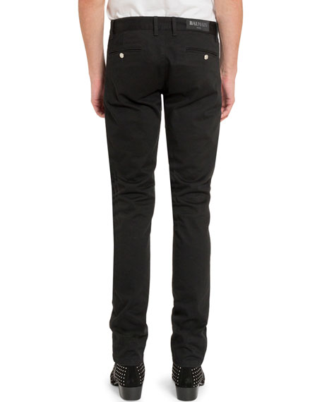 Balmain Men's Zip-Pocket Trousers