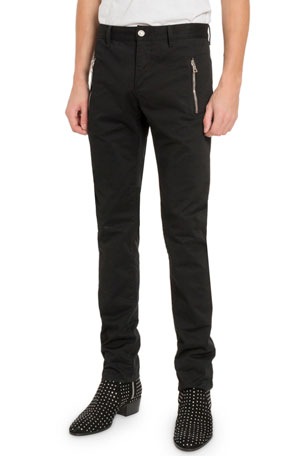 Balmain Men's Zip-Pocket Trousers