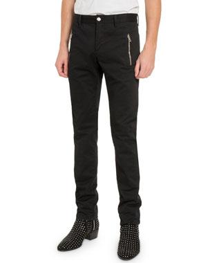 3a2e961ab2 Balmain Men's Zip-Pocket Trousers