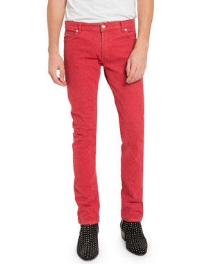 b7d6dedb Balmain Men's Straight Jeans with Raw Edges