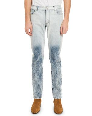 bbed9dff Balmain Men's Two-Tone Bleached Jeans