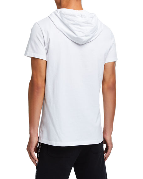 Balmain Men's Hooded Logo Graphic T-Shirt