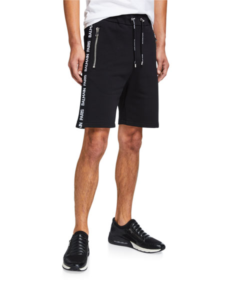 Balmain Men's Logo-Print Webbing Basketball Shorts