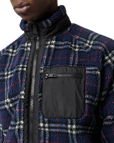 Burberry Men's Westly Zip-Up Turtleneck Sweatshirt