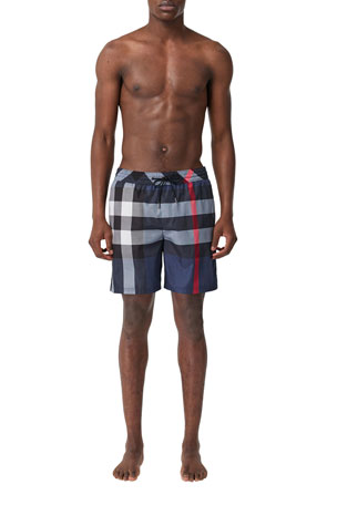 Burberry Men's Guildes Signature Check Swim Trunks