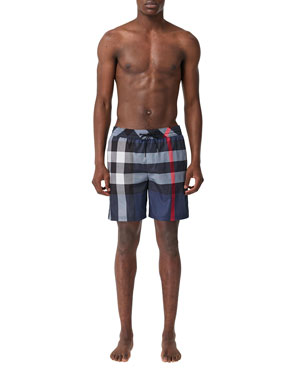 d95e7f8d39 Burberry Men's Guildes Signature Check Swim Trunks