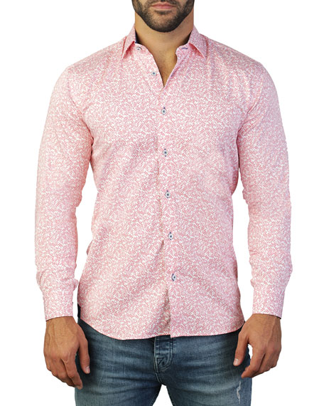Maceoo Men's Fibonacci Cross Cotton Sport Shirt
