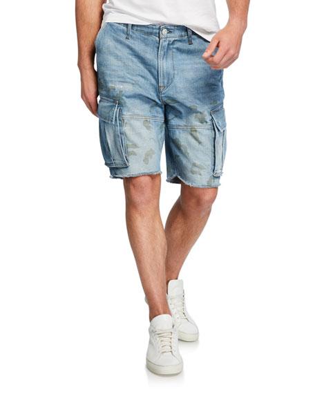 Hudson Men's Cutoff Denim Cargo Shorts